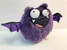 "Halloween Purple Plush Bat, Tekky Toys #23551, Screams & shakes, 5"" tall, 2013"