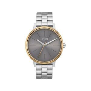 NEW Nixon Damenuhr A099-2477 Kensington Herren Silber Gold Gray Uhr