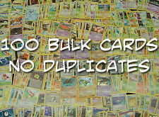 100 Pokemon Cards BULK Lot Quality and Mix No Duplicates Common/uc