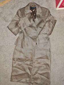 Jaeger Size 10 Ladies 2 piece suit, Jacket Skirt 100% Linen