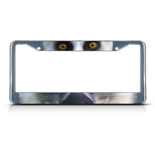 LEMUR ANIMAL EYES Metal License Plate Frame Tag Border Two Holes