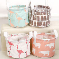 Linen Desk Storage Box Jewelry Cosmetic Holder Stationery Organizer Case Bag NEW