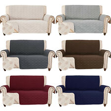 Anti-Slip Loveseat Covers for Leather Sofa Couch Slipcover Furniture Protector