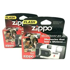 Lot of 2 Zippo Disposable Film Cameras with Flash 27 Exposures
