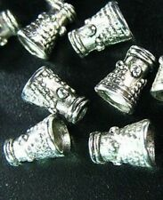80pcs Tibetan Silver Dotted Cone Spacer Beads T422