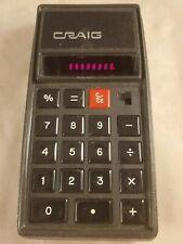 Rare Vintage Retro Craig 4507 Red LED Calculator Working USA See Pics