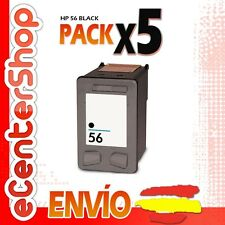5 Cartuchos Tinta Negra / Negro HP 56XL Reman HP Officejet 5610