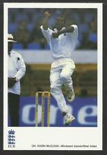 NIXON McCLEAN (WEST INDIES). OFFICIAL ECB CLASSIC CRICKET POSTCARD No. 124