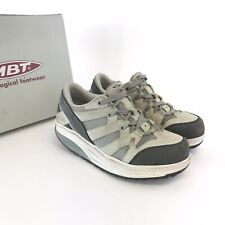 MBT 37.5 UK4.5 Sport Grey Leather Trainers Toning Wedge Heels Physiological Shoe