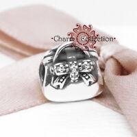 Pandora S925 Sparkling Hand Bag, Bracelet Charm, NEW, 791534CZ