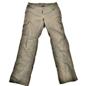 Kuhl Woman's Size 12 34X32 Olive Roll Up Stretch Hiking Outdoor Cargo Pants
