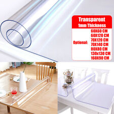 PVC Transparent Glass Tablecloth Waterproof Oil-proof Table Cover Protector Mat