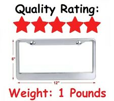 Very High Quality Made Strong Stainless Steel License Plate Frame Chrome Shine