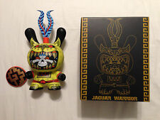 "yellow Jaguar Warrior 8"" Dunny by Jesse Hernandez and Kidrobot"