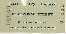 Dart Valley Railway Ltd. Edmondson Platform Ticket