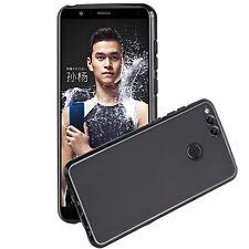 Huawei Honor 7x Case Slim Fit TPU Protective Skin Back Cover Black Abacus24-7