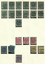 Pre-Cancel on 21  stamps.  1ct - 50ct Edward.