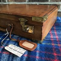 ONE-OF-A-KIND RARE VINTAGE 1960s LEATHER HARDSIDE MACBOOK PRO BRIEFCASE R$2898