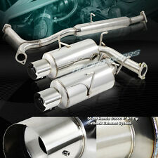 "4"" DUAL TIP STAINLESS STEEL EXHAUST CATBACK MUFFLER KIT FIT 00-09 HONDA S2000"