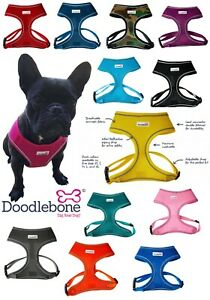 Doodlebone Dog Puppy Harness AirMesh Padded Soft Walking Vest 5 Sizes 11 Colour