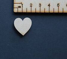 Wooden MDF Hearts Shape 3mm MDF Embellishments Craft Blank Shapes Wedding Decor