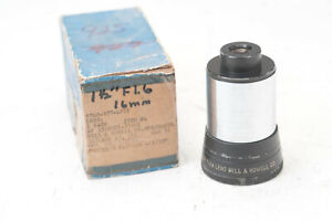 "Bell & Howell 1.5"" f/1.6 projector lens for 16mm N5236"