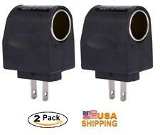 2xUniversal Power Converter 120V AC to 12V DC Car Cigarette Lighter Adapter Plug