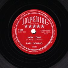 GREAT 1952 FATS DOMINO R&B 78 HOW LONG / DREAMING ORIGINAL US IMPERIAL 5209 E/E-