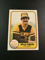 1981 Fleer # 485 ROLLIE FINGERS San Diego Padres Great Card Look !
