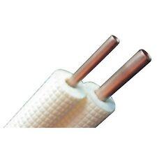 KIT DEUX TUBES CUIVRE ISOLES CLIMATISATION 1/4 - 3/8 LONG 25 ML