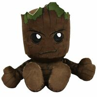 "Marvel Groot 8"" Kuricha Sitting Plush - Soft Chibi Inspired Toy"