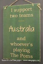 Australia versus England - League Cricket Rugby Union Sport Football Poms Sign