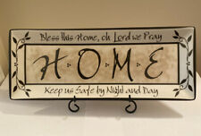 Carson Home Accent - HOME- Life's Message Plate w/ Metal Stand