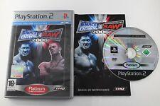 PLAY STATION 2 PS2 SMACKDOWN! VS RAW 2006 COMPLETO PLATINUM PAL ESPAÑA