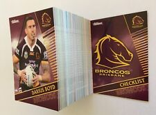 2018 NRL TRADERS BASE SET TRADING CARDS - FULL SET 160 COMMON CARDS