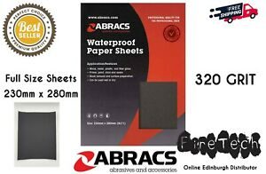 Abracs / 320 Grit / Wet and Dry Sandpaper Sand Paper / Waterproof Fine Coarse