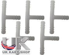 "tubo del carburante PLASTICA T PEZZI SPLITTER X 5 "" UK kart Store"