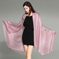 Womens Silk Long Shawl Wraps Hijab Scarf Sunscreen  Large Wrap Beach Towel Soft
