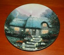 Thomas Kinkade Collector Plate Garden Cottages of England Open Gate Cottage