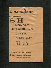 1979 Rush Max Webster concert ticket stub Manchester Uk Hemispheres Tour