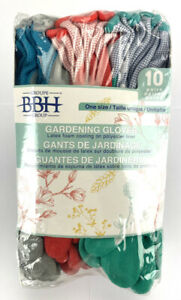 Groupe BBH Women's High Quality Gardening Gloves 10 Pairs - One Size