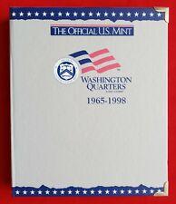 OFFICIAL US MINT COIN ALBUM FOR WASHINGTON QUARTERS 1965-1998 - NEW