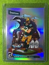 AARON RODGERS DOWNTOWN CARD JERSEY #12 PACKERS SSP PRIZM REFRACTOR  2018 Donruss
