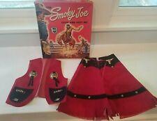 Vintage 1950s Smoky Joe Halco Chap Vest Set Cowboy Cowgirl Skirt w/ Original Box