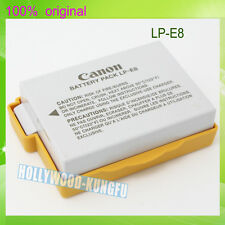 TWO  Genuine Original Canon LP-E8 LPE8 Battery for EOS 550D 600D X4 X5 T2i