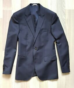 HUGO BOSS Anzug Dunkelblau SLIM FIT Navy Suit 2 Button 100% Wool Gr. 48 UVP 650€