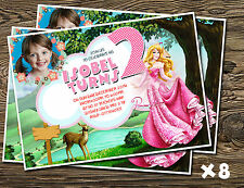 Personalizzato Inviti Festa/biglietti di ringraziamento Sleeping Beauty