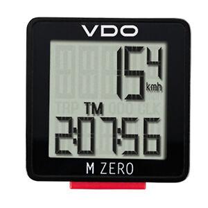 VDO Fahrradcomputer Fahrrad Tacho Computer M Zero 5-Funktionen mit Kabel