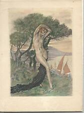 CHIMOT, ORIG RARE 30'S HAND COLORED ETCHING SGND IN PLATE