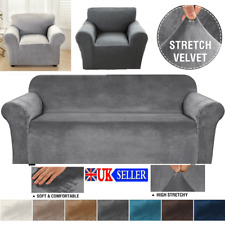 1/2/3/4 Seater Elastic Sofa Slipcover Stretch Protector Thick Plush Couch Cover